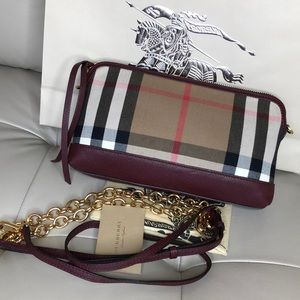 Authentic Burberry shoulder/crossbody clutch